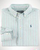 """Рубашка в полоску  """"Green""""  Ralph Lauren"""