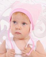 """Велюровая шапка """"Pink"""" Модный карапуз"""