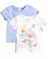 """Детские футболки (2шт) """"Бабочки"""" H&M"""