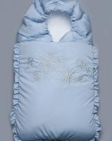 """Зимний конверт на выписку """"Голубые снежинки"""" Модный карапуз"""