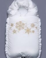 """Зимний конверт на выписку """"Золотые снежинки"""" Модный карапуз"""