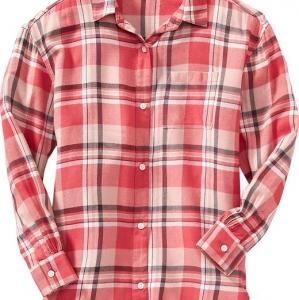 "Фланелевая рубашка ""PINK MULTI"" Old Navy"