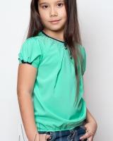 Детская салатовая блузка  Mevis