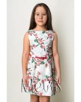 """Платье белое """"Яблочный сад"""" Mevis"""