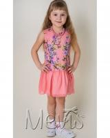 """Платье персиковое """"Spring garden"""" Mevis"""