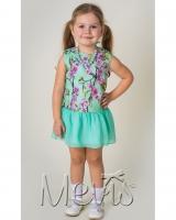 "Платье зеленое ""Spring garden"" Mevis"