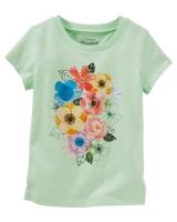 """Детская футболка """"Цветы"""" OshKosh"""