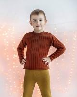 """Шерстяной свитер красный кирпич """"Софія"""""""