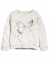 "Детский свитшот ""Бабочки"" H&M"