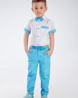 """Костюм (брюки, рубашка,бабочка) """"Blue"""" Zironka"""