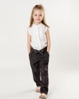 Детская белая блузка Massimo Dutti