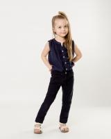 Детская синяя блузка Massimo Dutti