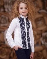 """Детская школьная блузка """"Ажурная"""" Zironka"""