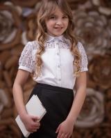 """Детская блузка с коротким рукавом """"Кружево"""" Zironka"""
