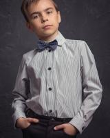 """Детская рубашка """"Серая полоска"""" Zironka"""