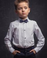 """Детская рубашка """"Синий горох"""" Zironka"""