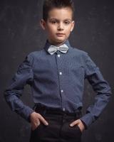 "Детская рубашка ""Белый горох"" Zironka"