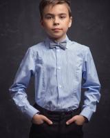 """Детская рубашка """" Голубая полоска"""" Zironka"""