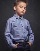 """Детская рубашка с длинным рукавом """"Белая полоска"""" Zironka"""