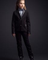 """Школьный пиджак для девочки """"Black"""" Zironka"""
