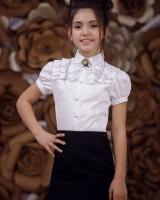 """Детская блузка с коротким рукавом """"Classic""""  Zironka"""
