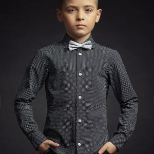 """Детская рубашка для мальчика """"Black"""" Zironka"""