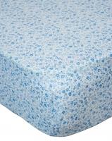 "Простынь на резинке ""Синие цветочки"" Coo Coo"