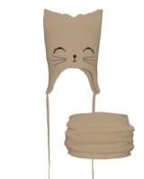 """Детская шапка со снудом """" Молочный котик """" Nikola"""