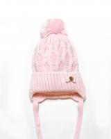 """Детская теплая шапка """" Pink """" Barbaras"""