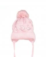 "Детская теплая шапка "" Pink heart"" Barbaras"