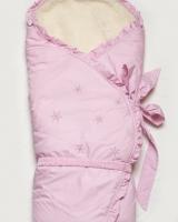 """Конверт-одеяло зимний на меху """"Розовая сказка """" Модный карапуз"""